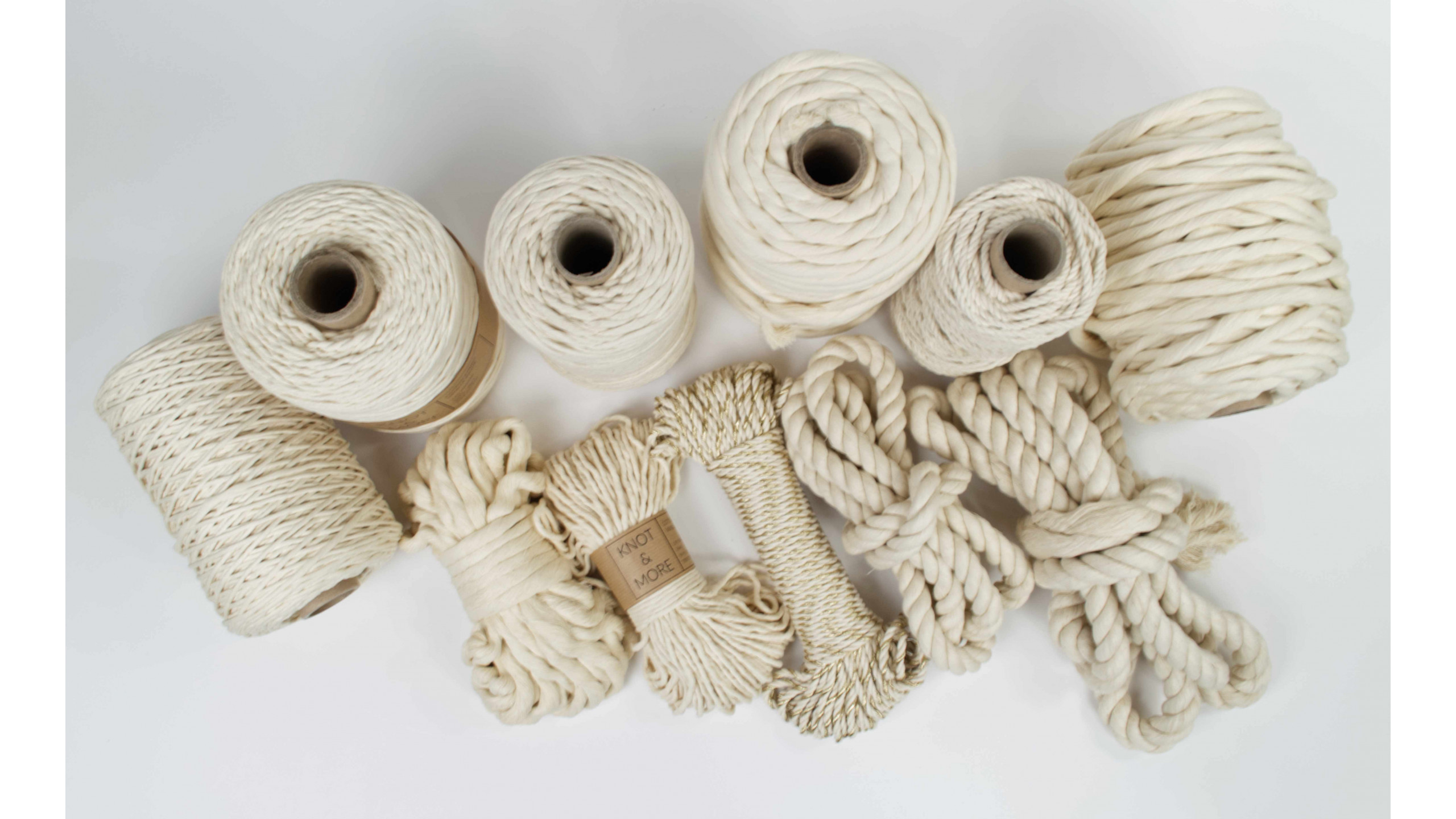 """""""Nature"""" collection - super soft cotton ropes and strings by Knot and More"""